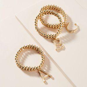 """Anthropologie Monogram """"G"""" Beaded Bracelet"""